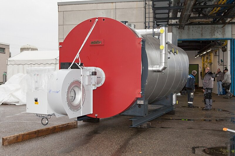New steam boiler - modern, efficient and ecological